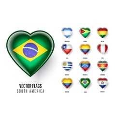 flags of the countries of South America vector image