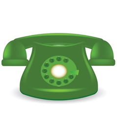 green phone vector image vector image