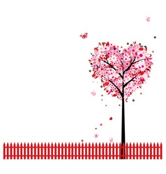 Heart Shape Tree Background vector image