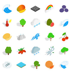 live nature icons set isometric style vector image vector image