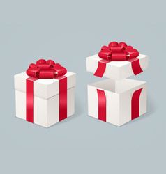 open and close present box vector image