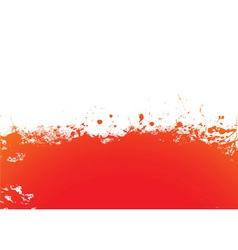 Orange splat band vector image vector image
