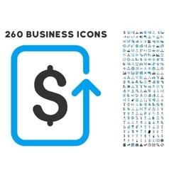 Reverse transaction icon with flat set vector
