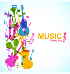 abstract musical template vector image vector image