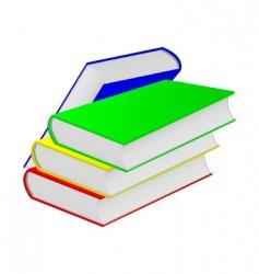 Four books vector