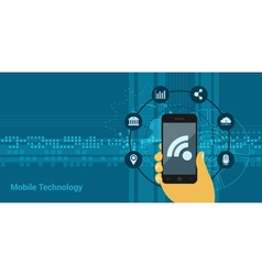 Mobile technology vector