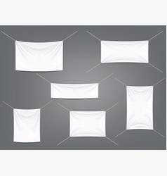 white banners with garters set vector image