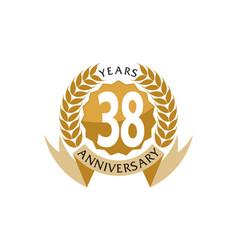 38 years ribbon anniversary vector image vector image