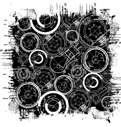abstract technical drawing vector image