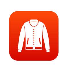 jacket icon digital red vector image vector image