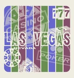 Las Vegas vector image