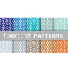 Pastel retro patterns vector image