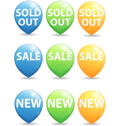 Round pointer for big sale new and sold out items vector image
