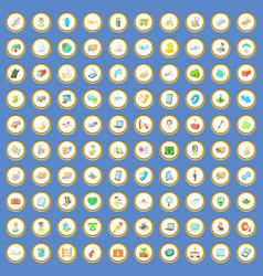 100 shipping icons set cartoon vector