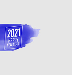 2021 happy new year watercolor style banner design vector