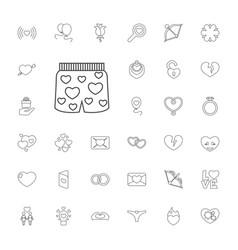 33 valentine icons vector