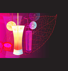 a delicious cocktail with a slice citrus vector image
