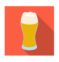 a glass of wheat beer with foamalcoholic beverage vector image