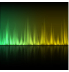 abstract equalizer background green-yellow wave vector image