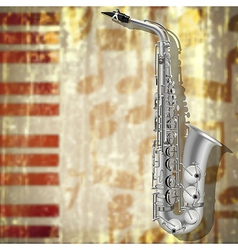 abstract Jazz music grunge background with silver vector image