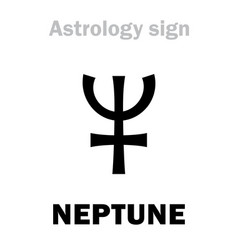 Astrology planet neptune vector