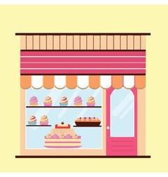 Bakery facade view vector