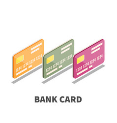 bank card icon symbol vector image