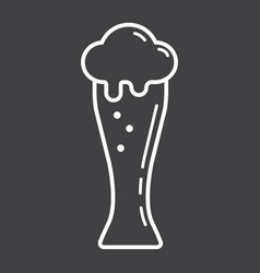 Beer glass line icon food and drink alcohol sign vector