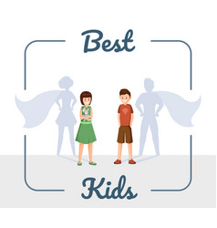 best kids flat excellent vector image
