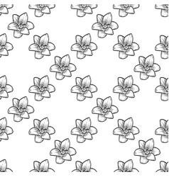 bluebells seamless pattern vector image