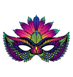 Bright carnival mask perfect for carnival vector