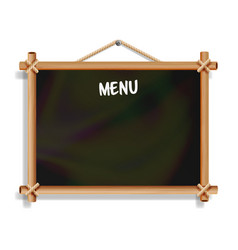 Cafe menu board isolated on white background vector