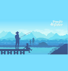 camp in the mountains vector image