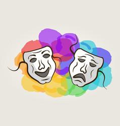carnaval mask vector image