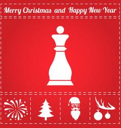 chess icon vector image