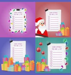 Christmas to-do list set vector