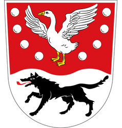 Coat of arms of prignitz in brandenburg germany vector