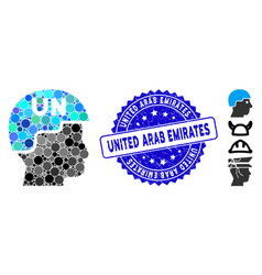Collage united nations soldier helmet icon vector