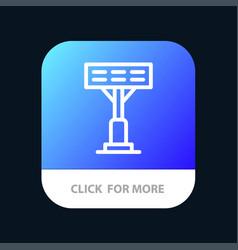 Construction light stadium mobile app button vector