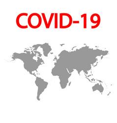 coronavirus covid19 19 captures whole world vector image