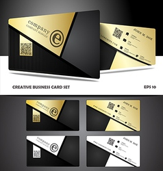 Creative and modern business card design vector
