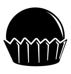 cupcake icon simple black style vector image