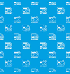 Data security pattern seamless blue vector