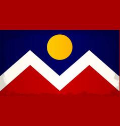 Denver city flag vector