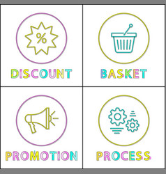 discount and basket posters vector image