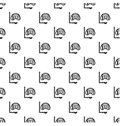 Diving mask pattern vector