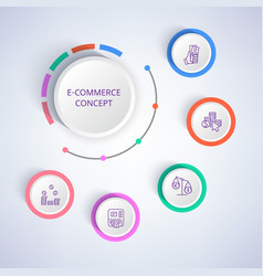 e-commerce colorful banner vector image