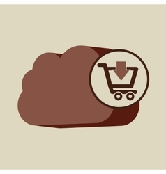 E-commerce store digital cloud shopping vector