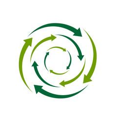 ecological circle arrows recycling logo recycle vector image