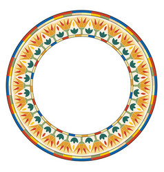 Egyptian circular ornament vector